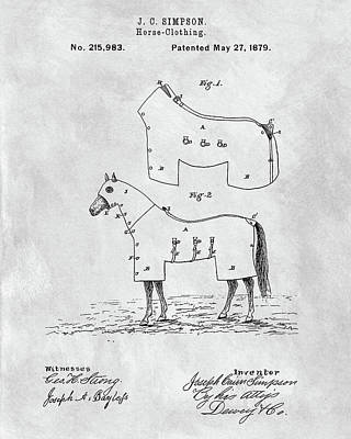 Horse Coat Patent Poster by Dan Sproul