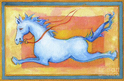 Horse Detail From H Medieval Alphabet Print Poster