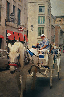 Horse Drawn Carriage - Old Montreal Poster by Maria Angelica Maira