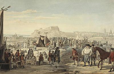 Horse Fair On Bruntsfield Links, Edinburgh Poster by Paul Sandby