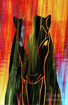 Horse Head Poster by Robert Ball
