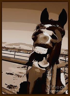Horse Humor Poster by Rev Richard W Burdett