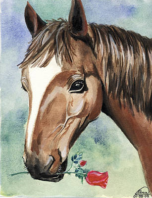 Horse In Love Poster