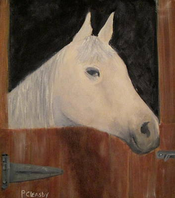 Horse In Stall Poster