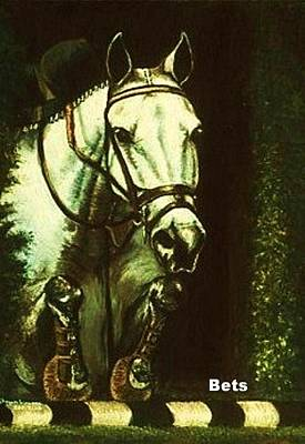 Hunter Jumper Horse Art No Faults Poster by Bets Klieger