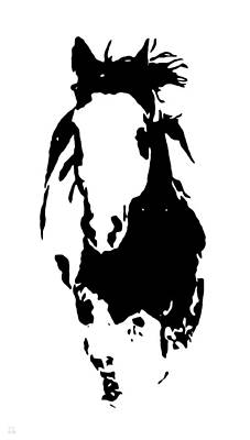 Horse Running Through The Snow Poster