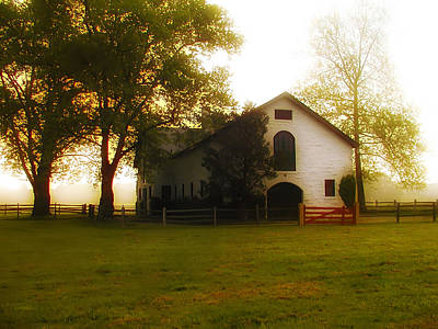 Horse Stable At Widener Farms Poster by Bill Cannon