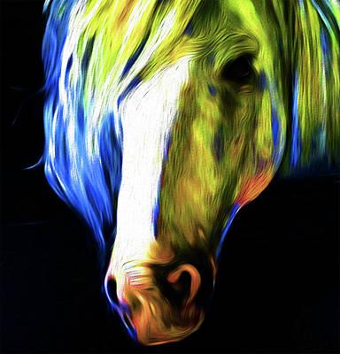 Horse V8 By Nixo Poster by Nicholas Nixo
