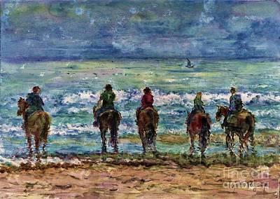 Horseback Beach Memories Poster