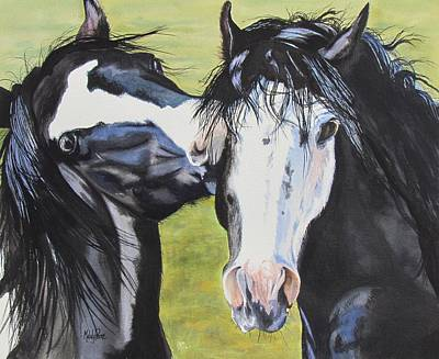 Horseplay Poster by Melody Perez