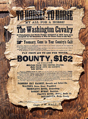 Horses Wanted Poster Poster by Barbara Snyder
