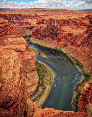 Poster featuring the photograph Horseshoe Bend Arizona - Colorado River #3 by Jennifer Rondinelli Reilly - Fine Art Photography