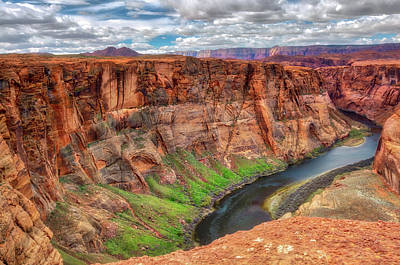 Poster featuring the photograph Horseshoe Bend Arizona - Colorado River #5 by Jennifer Rondinelli Reilly - Fine Art Photography