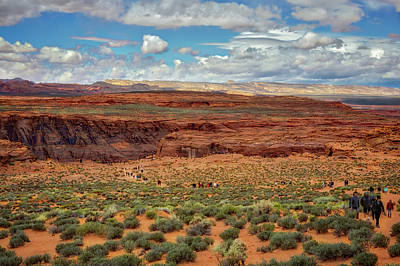 Poster featuring the photograph Horseshoe Bend  - Arizona by Jennifer Rondinelli Reilly - Fine Art Photography
