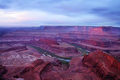 Poster featuring the photograph Horseshoe Bend At Dawn by Marie Leslie