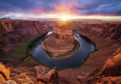 Horseshoe Bend Mega Sunset Poster