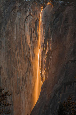 Horsetail Fall 1 Yosemite Poster