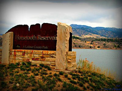Horsetooth Peak Above The Reservoir Poster