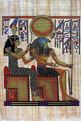 Horus And Hathor Poster by Bernice Williams