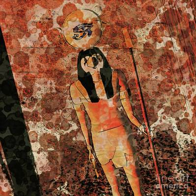 Horus, Egyptian God By Raphael Terra And Mary Bassett Poster