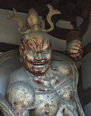 Horyu-ji Temple Gate Guardian - Nara Japan Poster by Daniel Hagerman