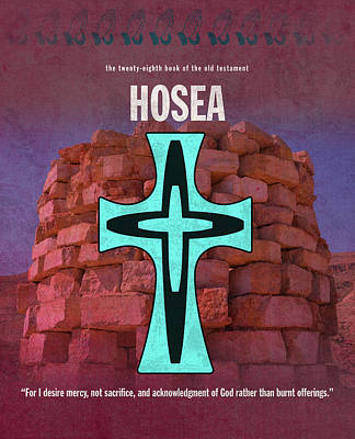 Hosea Books Of The Bible Series Old Testament Minimal Poster Art Number 28 Poster by Design Turnpike