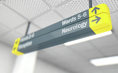 Hospital Directional Sign Neurology Poster