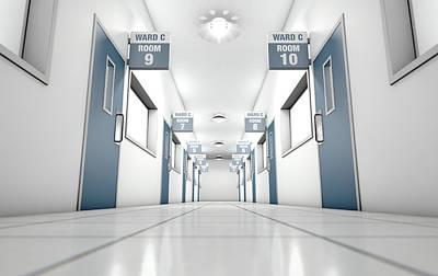 Hospital Hallway Poster by Allan Swart