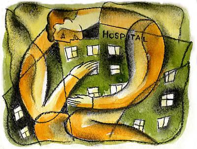 Hospital Poster by Leon Zernitsky