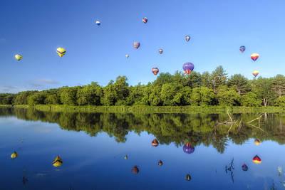Quechee Balloon Fest Reflections Poster