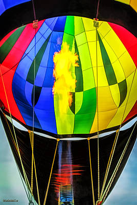 Hot Air Balloon Flame Poster by LeeAnn McLaneGoetz McLaneGoetzStudioLLCcom
