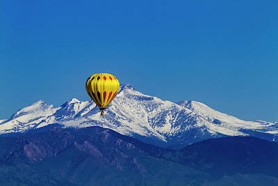 Hot Air Balloon In Colorado Poster by Teri Virbickis