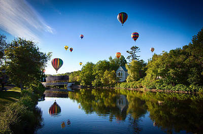 Hot Air Balloons In Queechee 2015 Poster by Jeff Folger