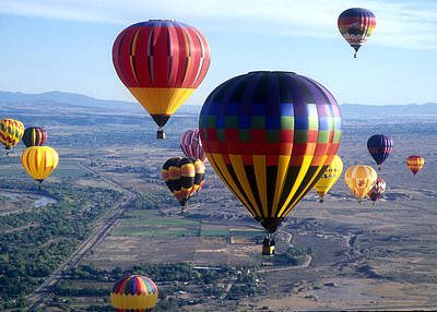 Hot Air Over Albuquerque Poster by Dale Hart