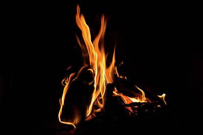 Hot - Cosy Fire In The Hearth Poster by Georgia Mizuleva