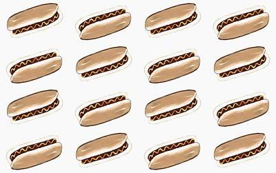 Hot Dog Pattern Poster