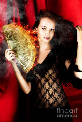 Hot Female Fire Dancer Poster by Jorgo Photography - Wall Art Gallery