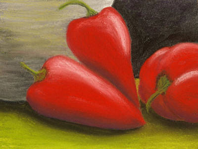 Hot Peppers Poster by Cheryl Albert