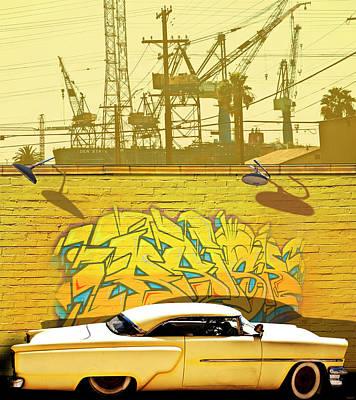 Hot Rod Graffitti Poster by Larry Butterworth