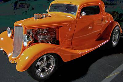 Hot Rod Orange Poster