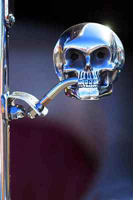 Hot Rod Skull Rear View Mirror Poster