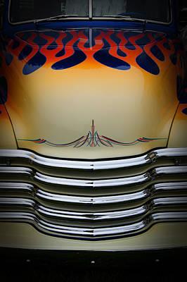 Hot Rod Truck Hood Poster