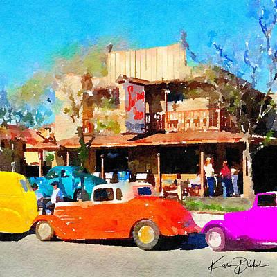 Hot Rods At Swing Inn, Temecula Poster