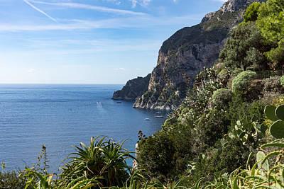 Hot Seaside Afternoon - Mediterranean Magic Of Capri Poster by Georgia Mizuleva