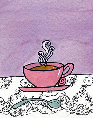 Hot Tea Poster by Norma Appleton