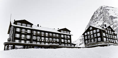 Hotel Bellevue Des Alpes And Eiger Nordwand Poster