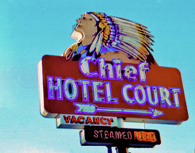 Poster featuring the photograph Hotel Chief Court by Matthew Bamberg