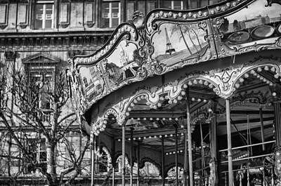 Hotel-de-ville Carousel In Paris. Poster by Pablo Lopez