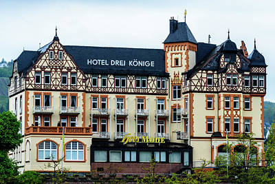 Hotel Drei Konige - Bernkastel-kues - Germany Poster by Jon Berghoff