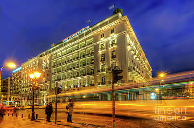 Poster featuring the photograph Hotel Grande Bretagne - Athens by Yhun Suarez